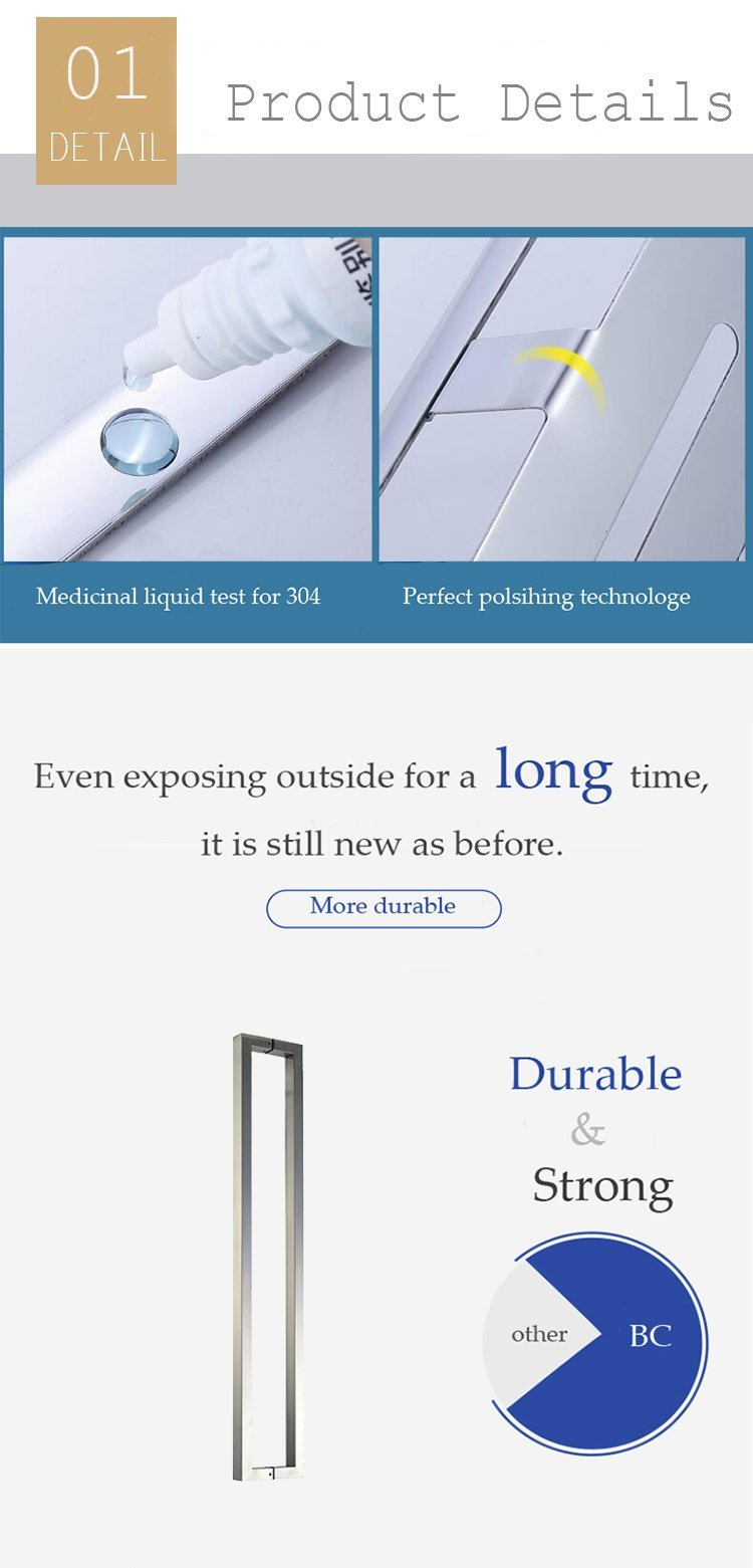 Building cheap price stainless steel square door handle
