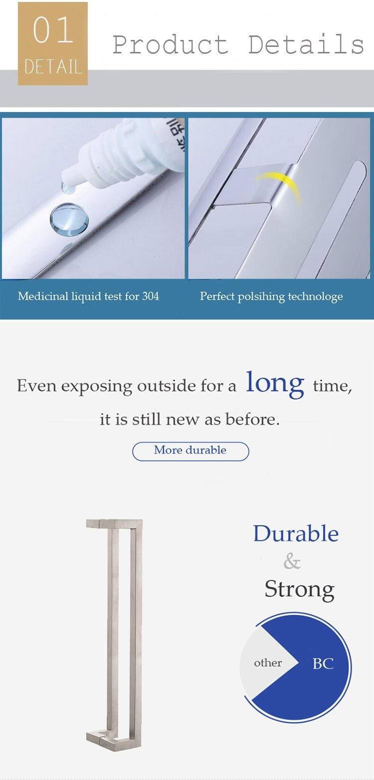 china suppliers new model door handle/stainless steel shower door handle