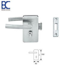 aluminum glass sliding door handle and Glass door lock