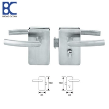 double zinc alloy glass door lock with keys