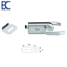 Cylindrical stainless steel glass door lock fittings