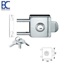 Double-sided door control high-quality push-pull bathroom glass door locks