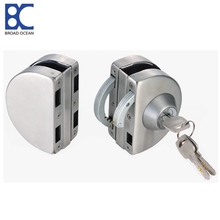 glass door lock with keys