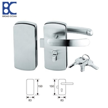 Low price sliding glass door lock hardware