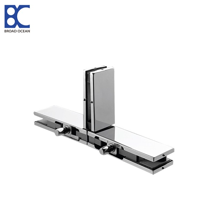 stainless steel glass door clamp T type glass to glass patch fitting