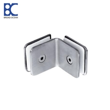 stainless steel glass shower  glass connector