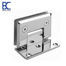 stainless steel wall to glass bathroom shower hinge