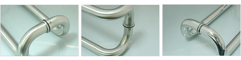 stainless steel glass sliding door handle