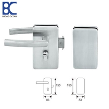 Frameless Single glass door lock  Glass door lock installation