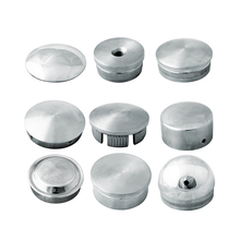 stainless steel pipe end cap handrail decorative pipe caps