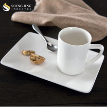 Competitive Price 160ml White Mug with Ceramic tray