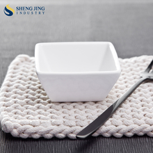 "100cc Square Vinegar Plate/ 3.25"" Ceramic Bowl/ 100ml Japanese Soy Sauce Dish"
