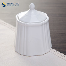 Wholesale Plain White Unique Sugar Bowl Ceramic Tea Coffee Sugar Pot With Lid