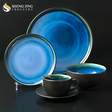 Guangzhou Hotel Supply Chinese Restaurant Tableware Color Glaze Ethiopian Dinner Sets