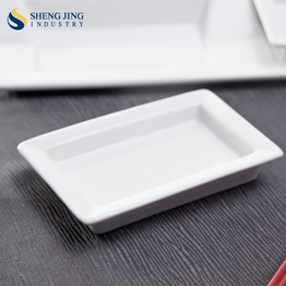 "Bulk Rectangle Dipping Bowl Mini Chafing Plate 4.5"" Soy Sauce Dish For Buffet"
