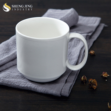 Wholesale Beautiful Design Ceramic China Mug Gift Stacking Cup