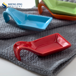 Unique Shape Colorful Ceramic Dip Plate for Dining Room