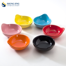 Small Sauce Dish Ceramic Pink Red Blue Yellow Black Dipping Bowls