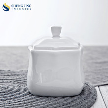 China Supplier Wholesale White Ceramic Unique Sugar Bowl