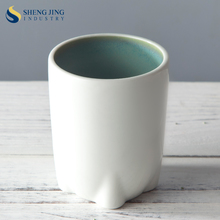 Hotel Goods Chaozhou Green and White 240ml 8oz Ceramic Cup