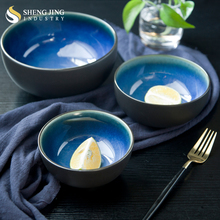 Porcelain Dinnerware Set Colored Glaze Ceramic Bowls Set