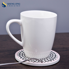 340ml Tea Water Coffee Cups 12oz Plain White Ceramic Customized Mugs