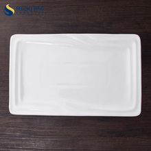 Ceramic Heat Resistant White Rectangle Service Plate
