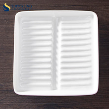 Durable Porcelain Square Shaped Plates For Hotel Banquet