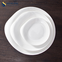 Good Quality White Unique Shape Dinner Plate Porcelain Set
