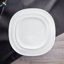 Wholesale Banquet Fine Chinaware Ceramic Square Charger Plates For Wedding