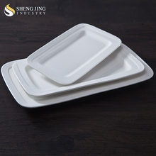 10 12 14 Inch Rectangle plate AB Grade Porcelain Dinnerware
