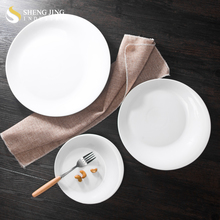 China Wholesale Ceramic Dinner Plate for Banquet