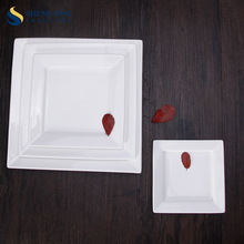 Pasta Ceramic Table Ware Square Noodle Dishes Plate