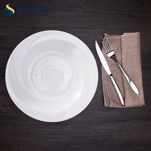White Porcelain Soup Deep Plate for Restaurant