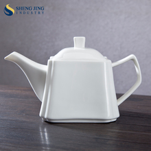 English European Style Ceramic Tableware White 755ml Tea Pot