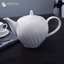 Plain White 35oz Teaware1000ml Chinese Ceramic Teapot