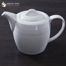 Plain White Ceramic 14oz 28oz 400ml 800ml Coffee Pot Picture