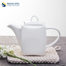 Teapot 775ml White Custom Coffee Pot For Cafe Restaurant Hotel