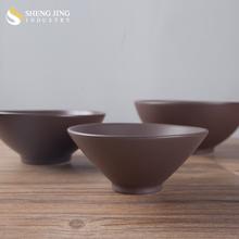 Daily Use Hotel Supplier Brown Cereal Tapered Bowl