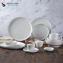 Ceramic Matt Color Unique Shape Dinner Set For Home Use