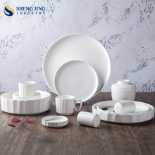 Matt Porcelain Snowflake White Dinnerware For Retail