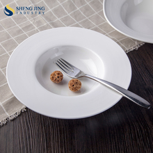 Banquet Use Ceramic 220ml 9'' Mushroom Soup Plate