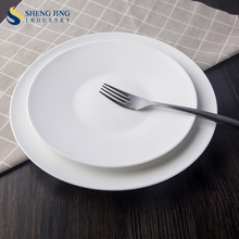 Hotel Ceramic Table Ware White New Bone Round Plate
