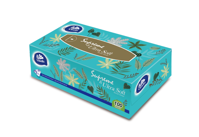 Vinda Soft & Strong 100sheets 2ply Box Facial Tissue VC2368
