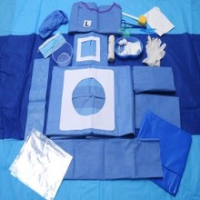 One-time use sterile surgery kit for thoracic, abdominal and back surgery