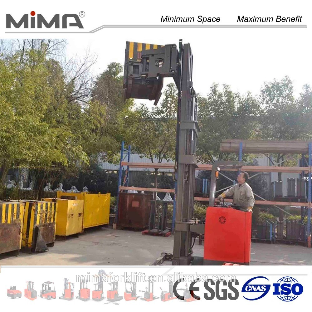 4.5m To 10m 1500kg Vna Truck With Swing Forks Lift