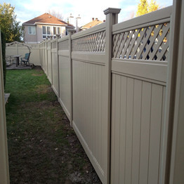 PVC privacy fence with new post for home garden/what's the difference compared to the traditional post