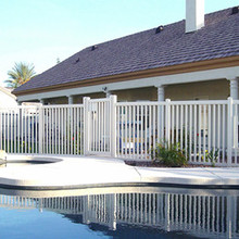 PVC swimming pool security fence