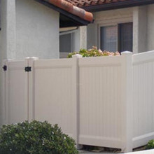 high quality PVC fence with durability than wood fence