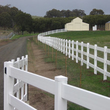 PVC 3 rail  ranch fence /it is  a fence suitable for horse farms and gardens